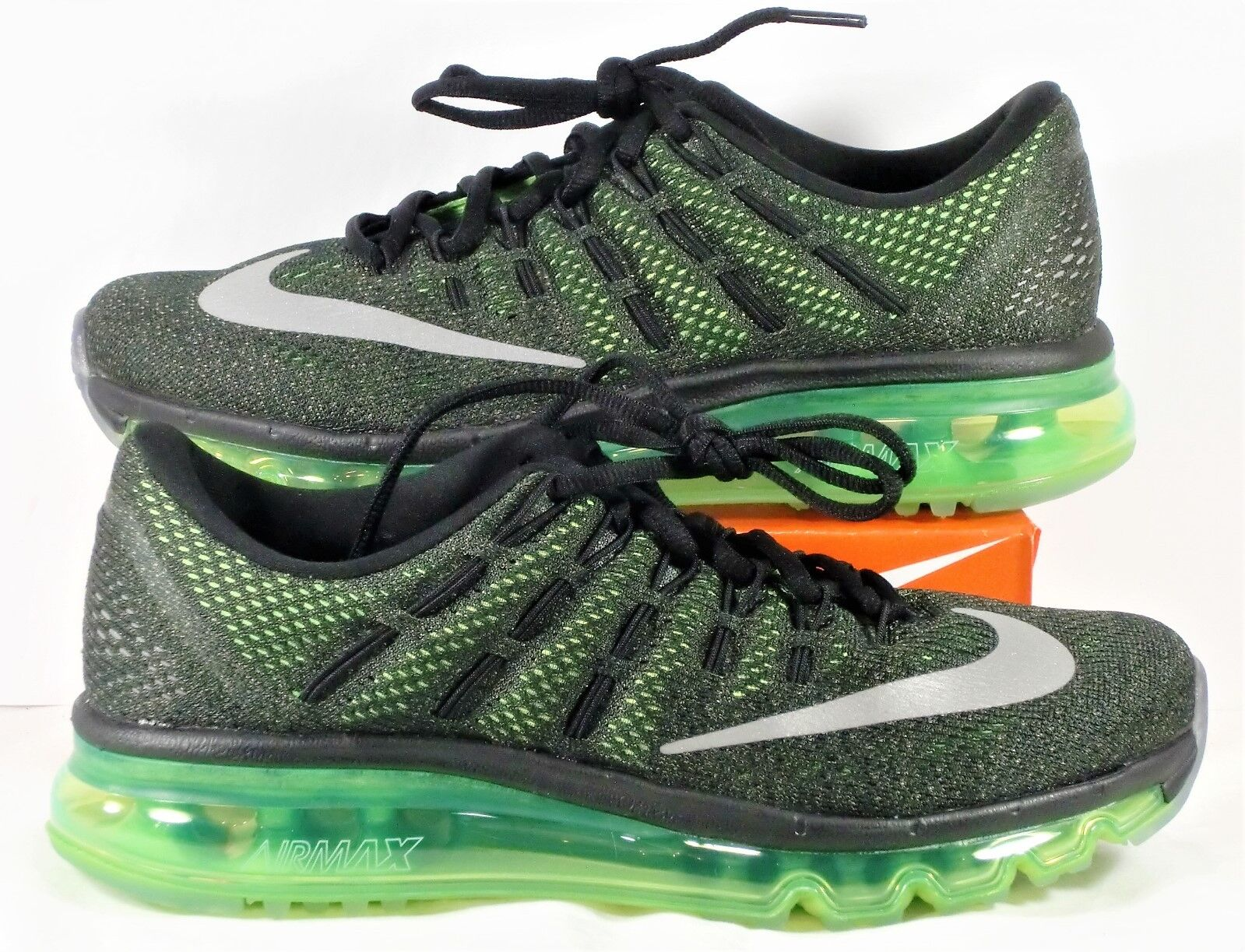 Nike Air Max 2018 Black & Volt Green & Silver Running Shoes Sz 6 NEW 806771 013 New shoes for men and women, limited time discount