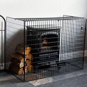 Nursery Guard Black Extendable Extending Fire Screen Child
