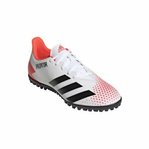 Adidas-Hommes-Predator-20-4-Tf-Chaussure-De-Football-multi-cames-Chaussures-Blanc-Noir-Rouge