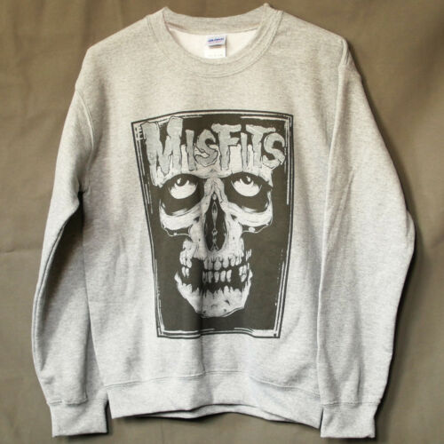 MISFITS HARDCORE METAL PUNK ROCK SWEATSHIRT unisex grey JUMPER S-3XL
