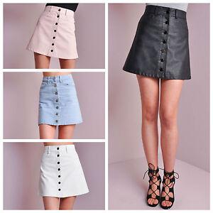 Womens A line Button Up Skirt High Waisted Skirt Vintage Stye ...