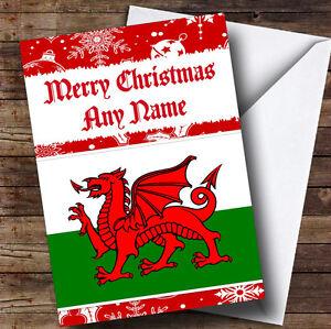 Welsh flag personalised christmas greetings card ebay image is loading welsh flag personalised christmas greetings card m4hsunfo