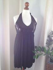 Kleid H&M Paillettenkleid Schwarz XL 42/44 Silvester Weihnachten Pailletten