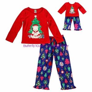 "SZ 8/10 Dollie&Me Beary Christmas Pajama St +18"" Doll Clothes Fits American Girl"