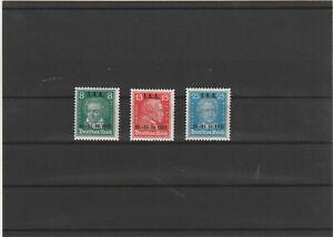 DR 1927 Satz Mi. Nr. 407 - 409  postfrisch / Aufdruck / Männer