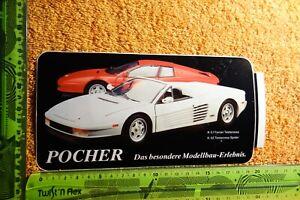 Alter-Aufkleber-Spielzeug-Modellbau-Autos-POCHER-Ferrari-K-51-52-Testarossa