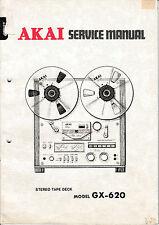 Service Manual-Anleitung für Akai GX-620