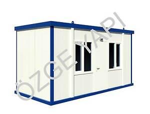 container schl sselfertig b rocontainer baucontainer wohncontainer 5 00m x 2 40m ebay. Black Bedroom Furniture Sets. Home Design Ideas