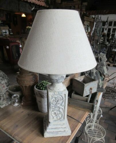 GROSSE LANDHAUS LAMPE TISCHLAMPE LANDHAUSSTIL TISCHLEUCHTE 67cm H KOLONIALSTIL