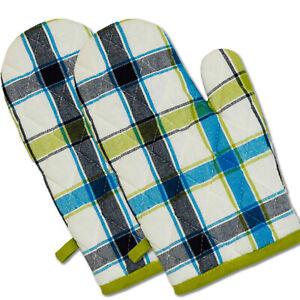 Kuechenhandschuhe-Handschuhe-1-Paar-2-Stueck-034-Karo-034