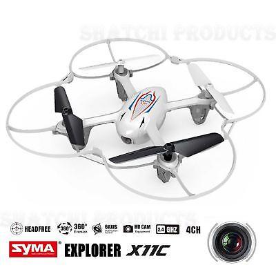 Syma Drone Quadcopter X11c Aria Rtf Mini 2.4 G 4ch 6 Assi 2mp Camera Led 360 ° Bianco-mostra Il Titolo Originale Ritardare La Senilità