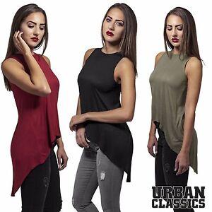 URBAN-CLASSICS-Donna-Top-damentop-Longtop-Camicia-Donna-Shirt-Top-Mullet