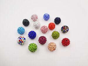10pc-Quality-Crystal-Rhinestone-Beads-Disco-Ball-Shamballa-Bracelet-Making-12mm