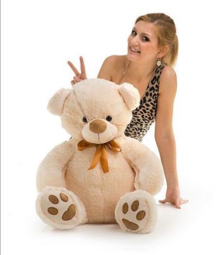 Large Teddy Bear 100cm Great Present Kid Surprise Large Cuddly Teddy KJ3-L.Beige