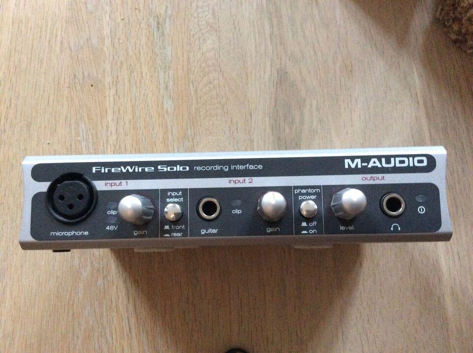 Lydkort, M-Audio FireWire Solo