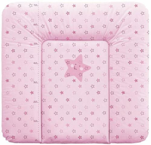 Wickelauflage 70x75 Wickeltischauflage Wickelunterlage Modell Stern rosa Neu