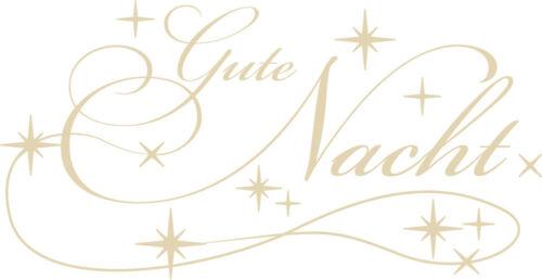 Mural pour Chambre Wandtatoo Autocollant Proverbes bonne nuit étoiles