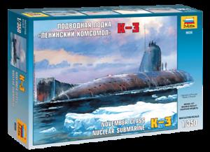 "K-3 /""November/"" class Nuclear Submarine 1:350 Zvezda #9035"