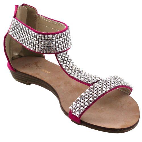 New women/'s shoes sandal open toe rhinestones gladiator summer casual fuchsia