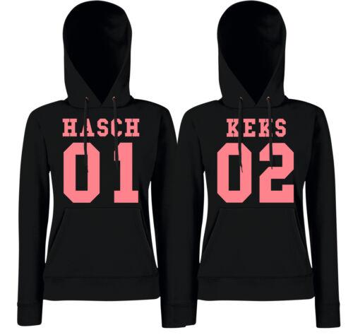HASCH Partner Hoodies KEKS 01//02 Freundinnen Friends Sister Haschkeks THC