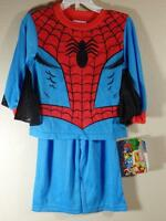 Boy's Marvel 2 Pc Spiderman Pajamas With Webbed Sleeves, Size 2 Toddler