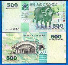 TANZANIA 500 SHILLINGS P35 2003 BOAT BUFFALO SNAKE UNC ANIMAL MONEY BILL NOTE