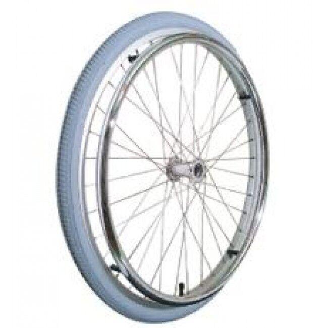 s l1600 - Rueda para silla de ruedas de 600 mm. Completa con aro. Repuesto, recambio.