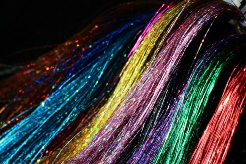 13 Colors Flashabou Holographic Tinsel Laser Mylar Sparkle Fly Tying Materials