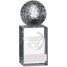 "Free p/&p /& Engraving Unite Blue Globe Crystal Glass Award in Gift Box  9.5/"""