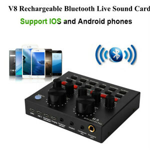 External Sound Cards 23 Special Effects Headset Microphone 3D Surround Sound Card Karaoke USB Portable Live Sound Card with 4 Modes