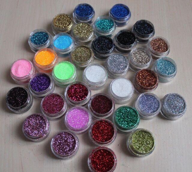 Disco Silver - 5g Pot NSI Acrylic Powder Glitter Mix Nail Art Pre ...