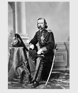 8x10 1865 George Armstrong Custer PHOTO Major General Portrait Battle of Little Bighorn Custer/'s Last Stand Indian Wars Civil War General
