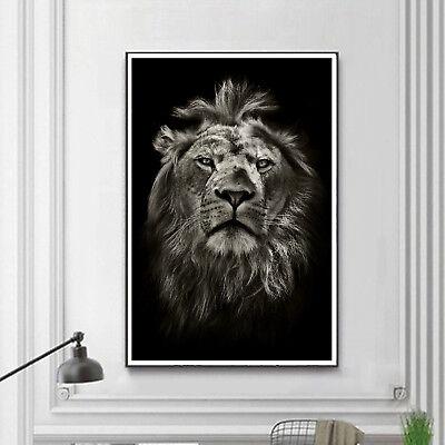 Art White Tiger Black White Paint Silk Canvas Poster Modern Decor Unframed A779
