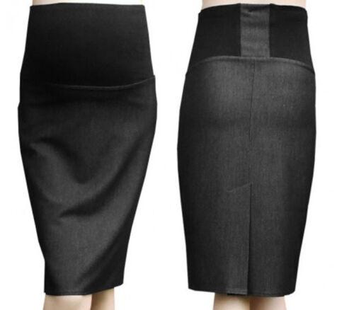 Maternity pencil skirt Smart Office Skirt Over Bump size UK 6 8 10 12 14 16 18