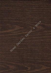 Dark Brown Wood Grain Vinyl Contact Paper Wallpaper Shelf