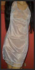Zartes Vintage Enka Perlon Unterkleid Gr. 40 mit Spitze Pin Up Negligee (H457)