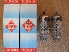 2x PCC189 / 7ES8   TELEFUNKEN   tubes   - NOS -  ( ~  6DJ8 / ECC88 ) PCC 189