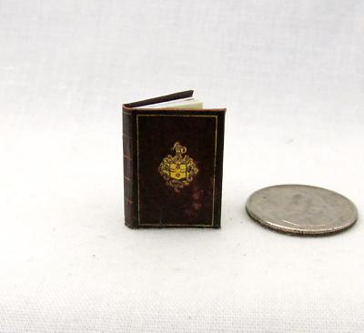 Sir Frances Drake's Diario Miniatura Libro Casa Delle Bambole 1:12 Scala Elaborato Finemente