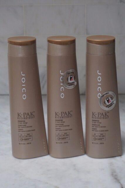 3 PACK  10 1 oz  Joico K-Pak Reconstruct Shampoo  To Repair Damage  300ml   NEW