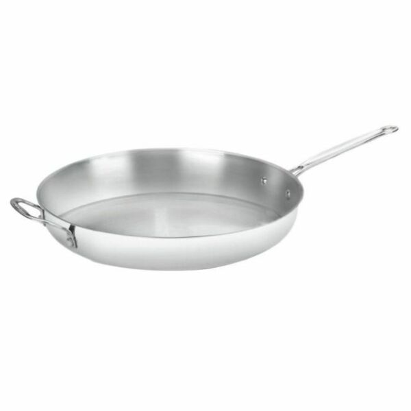 Stainless Steel Skillet 14 Inch Classic Frying Pan Non Stick Kitchen Cookware For Sale Online Ebay
