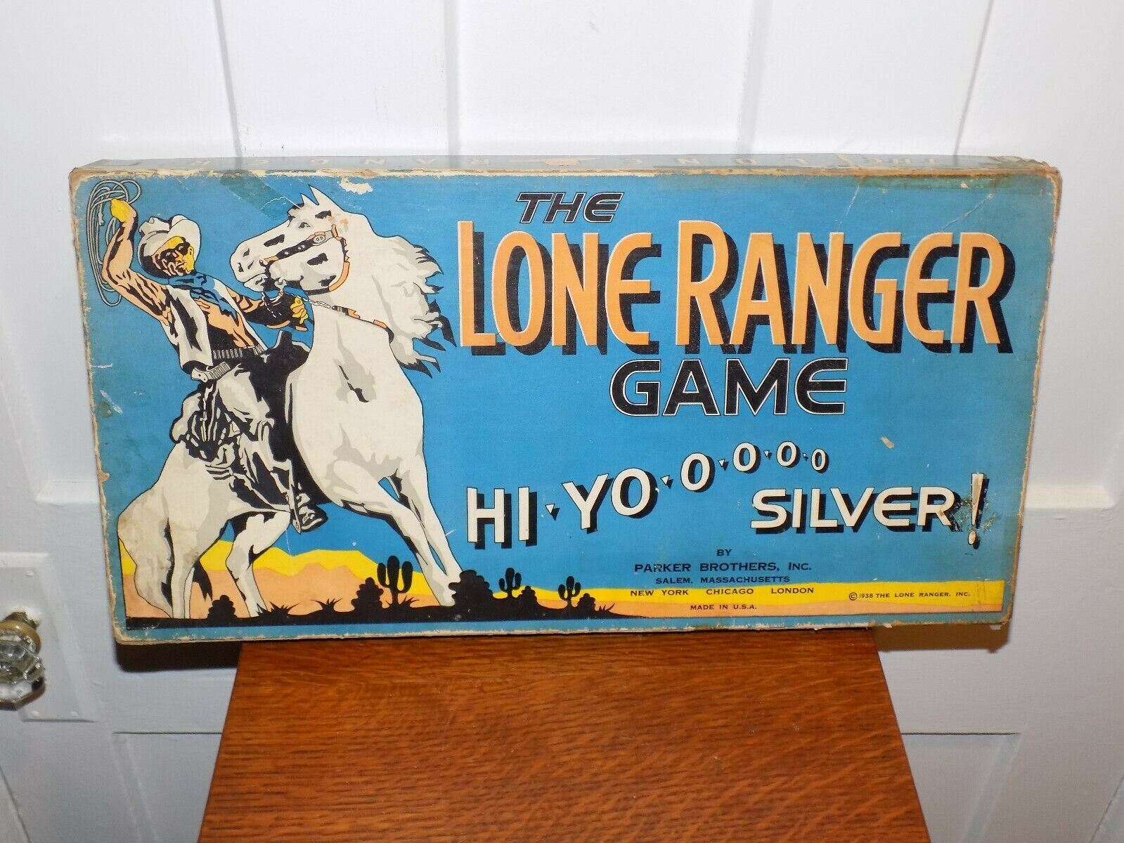 The Lone Ranger Board Game Parker Bredhers 1938