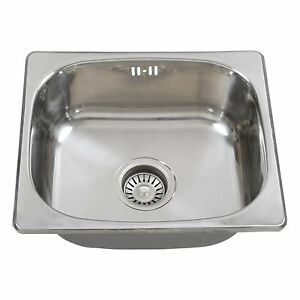 Sink And Washer In One : ... Steel Single One Bowl Topmount Kitchen Washing Sink 420x360mm eBay