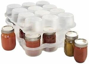 Semi-clear Loyal Jarbox Protector For Canning Jars 12-pint Jars