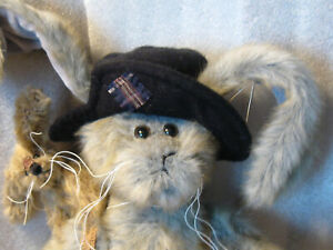 Bearington-Rabbit-2000-039-s-Rags-amp-Bags16-034-gray-black-hat-rabbit-friend-jointed-GREAT