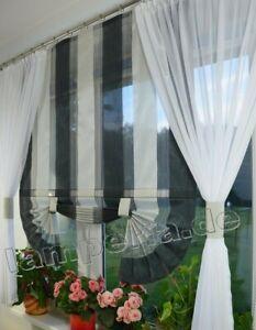 Details zu Moderne Gardinen Wohnzimmer Fensterdekoration Schwarz Fenster  120 -180 Nr. 536