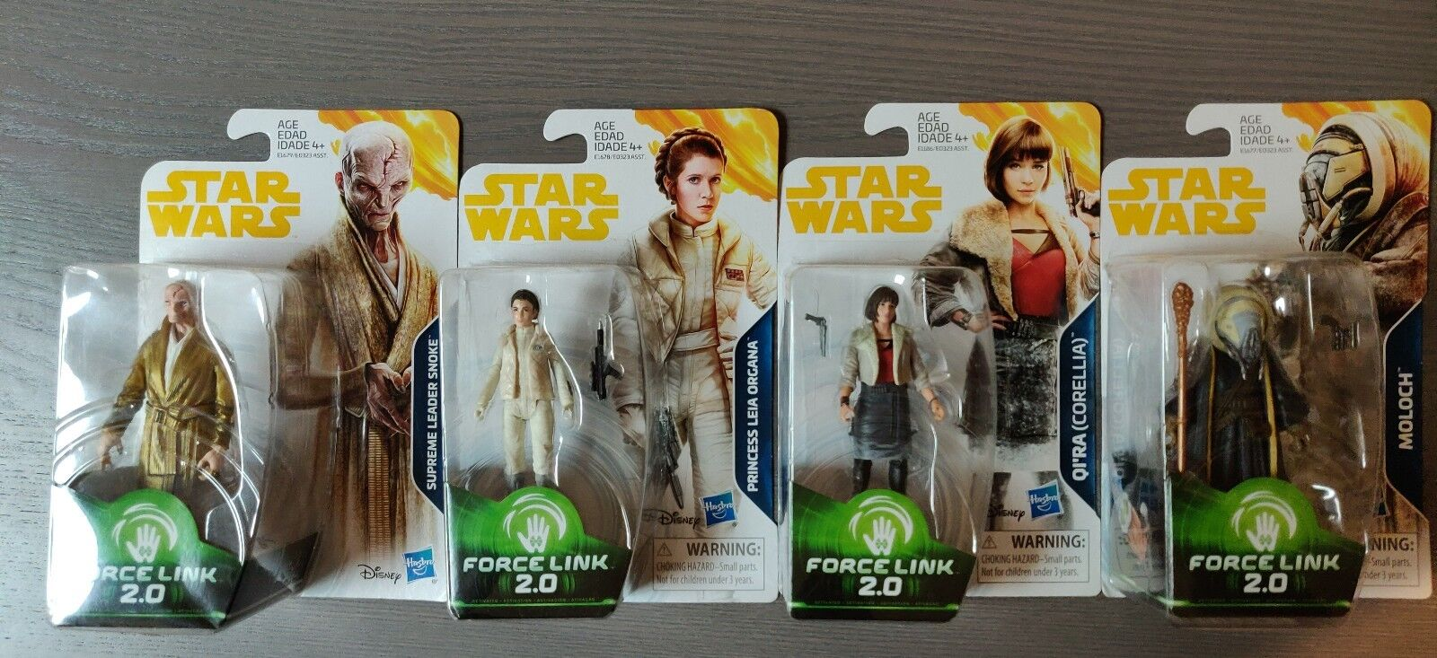 Star Wars Wars Wars Force Link 2.0, Princess Leia, Supreme Leader Snoke, Moloch, Qi'ra 21e844