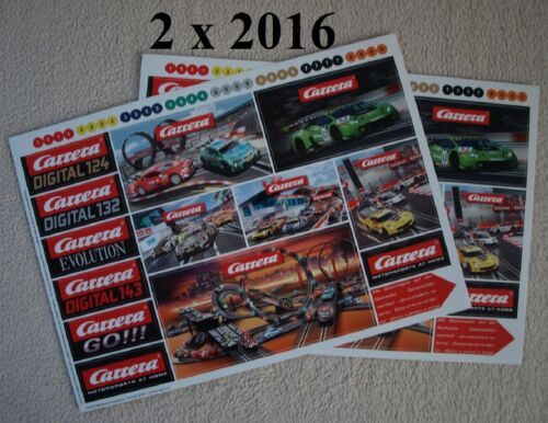 Carrera Set 5x verschiedene Aufkleber,1x Schlüsselband und 6x Kugelschreiber neu