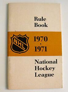 National Hockey League 1970 71 Nhl Rule Book Vintage Ebay