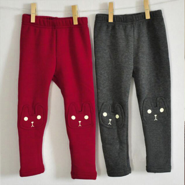 Toddler Kid Girl Pure Colour Leggings Pants Casual Stretch Cotton Tight Trousers