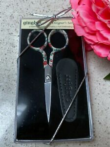 "Rare Gingher Designer Scissors LINDSAY Shears 4"" Embroidery 2004 Limited Edition"
